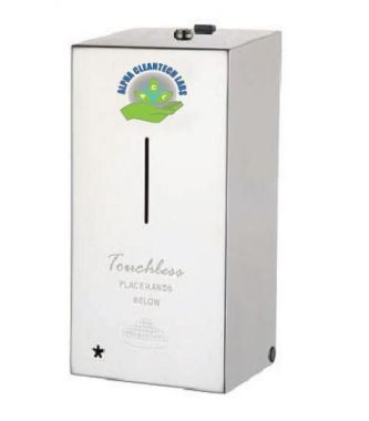 Alpha Sanitizer Touch-Less Wall Mount Dispensers Stainless Steel (DT800S) With Free 1 Gallon Refill