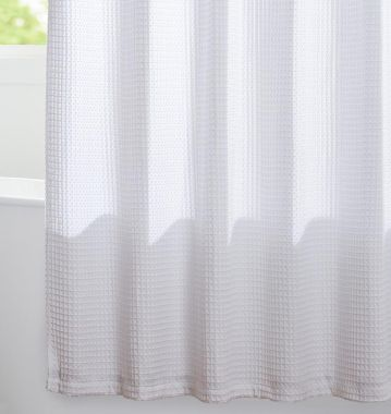 Merit Collection™ Shower Curtains Waffle Combed Cotton Poly Blend Outer Layer 72