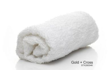 """Gold + Cross™ 16S 100% Cotton Quick Dry Institutional Face Towels 12""""x12"""" Whote"""