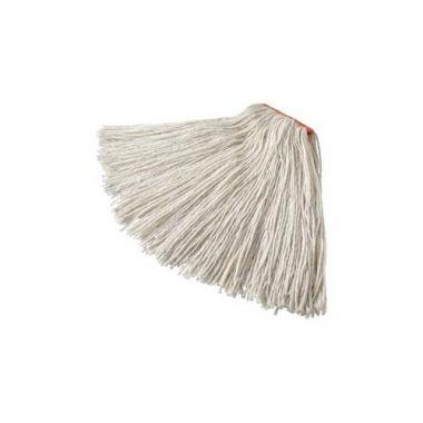 "Rubbermaid® Dura-Pro® 4-ply Rayon Cut-end Wet Mop w/1"" Headband, White, 20 oz - RFS152/FGF41700WH00"