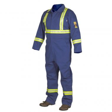 Forcefield FR Treated 100% Cotton Coverall with Reflective Tape