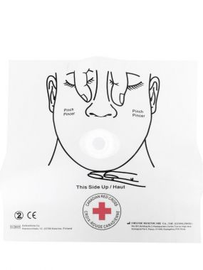 CANADIAN RED CROSS DISPOSABLE CPR MASK WITH ONE WAY VALVE