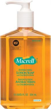 GOJO Micrel Antibacterial Lotion Soap, Pump Bottle, 354 mL