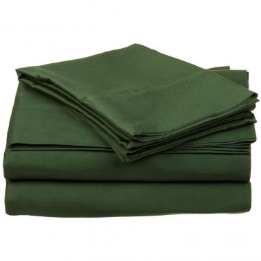 Endurance™ Canada T180 Fitted Sheets 55/45 Cotton/ Polyester Hunter Green