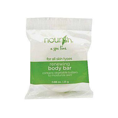 Hunter Amenities Nourish® Renewing Body Bar Soap With Green Tea Fragrance, White, 0.88 oz. Pack of 250