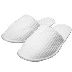 Rejuvenate™100% Combed Cotton Waffle Washable Slippers, Leather Sole
