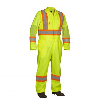 Forcefield Hi Vis Safety Flagger's Coverall, Unlined