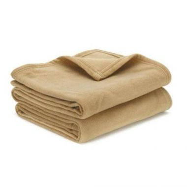 Adonis™ Hospitality Fleece Blanket 100% Polyester Color Tan in Twin/Queen/King Sizes