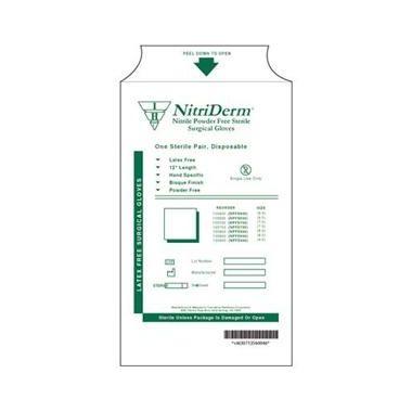 Nitriderm Gloves Nitrile Powder Free Size 6.5 Texturized