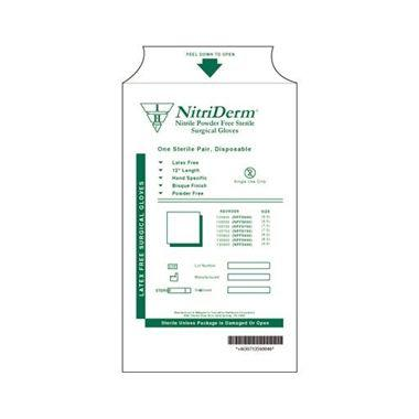 Nitriderm Sterile Nitrile Surgical Gloves Powder Free Size 6.0 Texturized 50pair/box