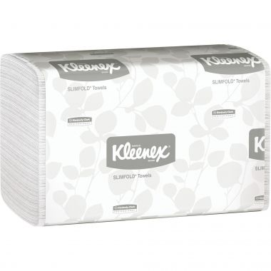 Kleenex® Slimfold Towel Dispenser Refill Towel, White, 90 Sheets/Pack, 24 Packs/Box