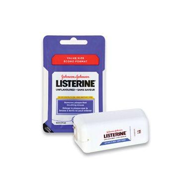 Johnson & Johnson Listerine Professional Size Waxed Floss Unflavored 200yd (Dispenser Included)