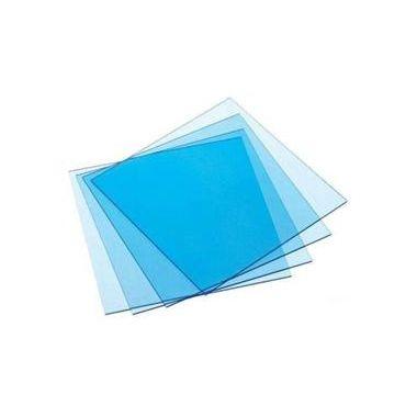 """Keystone Thermoplastic Splint Material 0.020 Clear Blue 5""""x5"""", 50/pkg"""