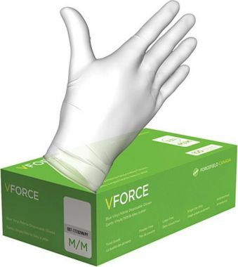 VFORCE Vinyl Powder Free Medical Gloves Medium 4.5mil - 100/Box