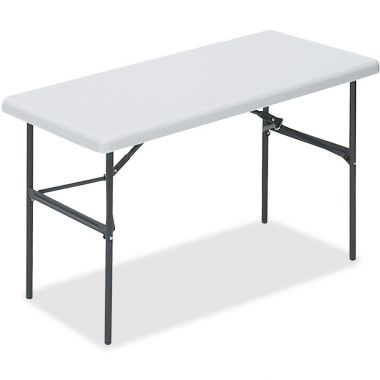 "Lorell Banquet Table, Rectangular, 250 lb Cap., Rectangle - 24"" x 48"" x 29.0"", Platinum White"