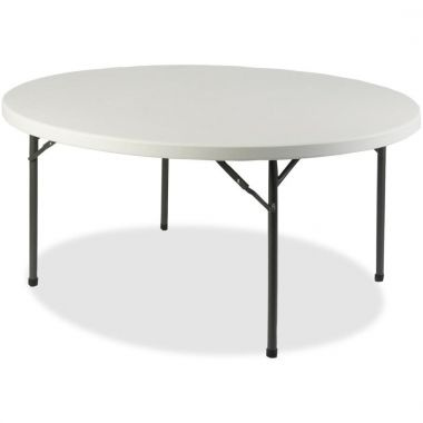 """Lorell Banquet Table,Round, 500 lb Capacity,  60"""" Table Top Diameter - 29.3"""" Height, Gray"""