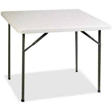 """Lorell Banquet Table,Round, 500 lb Capacity, 29"""" Height x 36"""" Width x 36"""" Depth - Gray"""