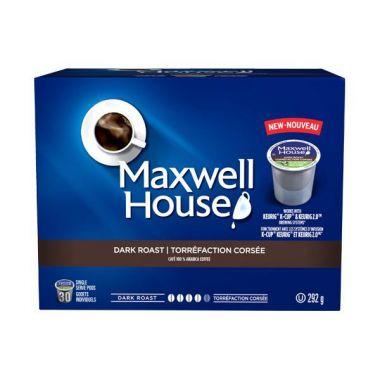 Maxwell House Dark Roast Keurig CompatibleEDKMAXDARKPOD30