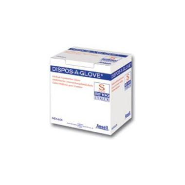 Ansell Dispos-A-Glove Sterile Small 1 glove/paper pouch 100 gloves/box