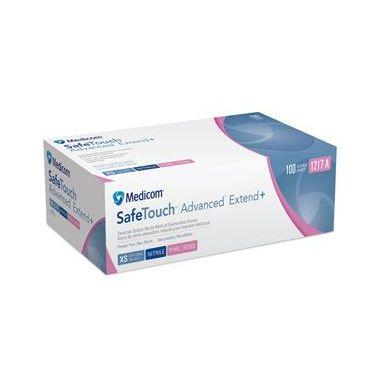 Medicom SafeTouch Advanced Extend Plus Pink Nitrile PF 100/box MEDIUM