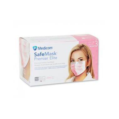 Medicom SafeMask Premier Elite Earloop Mask, Level 3, 50/box Pink