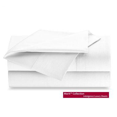 Merit Collection™ Luxury T300 Sateen Finished FLAT Sheets White