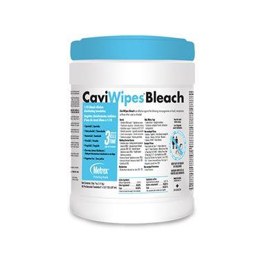 "CaviWipes Bleach Surface Disinfectant Wipes 6"" x 10.5"" 90/tub"