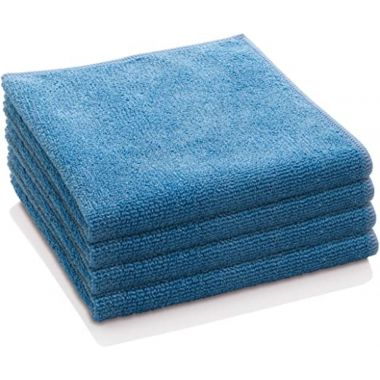 "Gold + Cross Microfiber Cleaning Cloth 14""x 14"" Blue – Pack of 24"