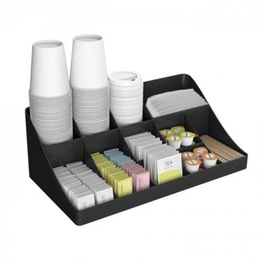 Mind Reader Coffee Compartment Organizer - Black mesh EDMINDCOMP7