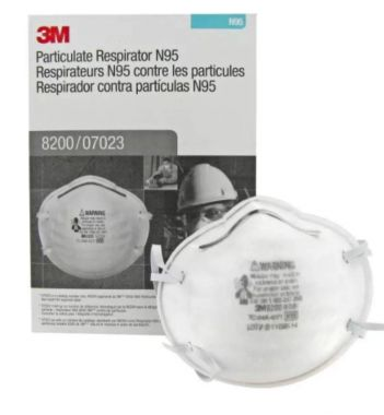3M™ Particulate Respirator 8200/07023(AAD) N95 20/Box (07023)