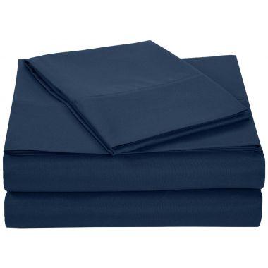 Linen Plus®, Endurance™, T180 Flat Sheets, 55/45 Cotton/ Polyester, Navy Blue