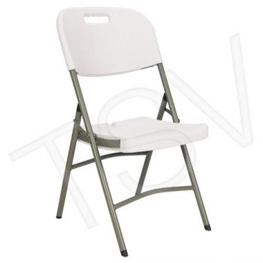 Klenton ,Polypropylene Folding Chairs, 3/Pack