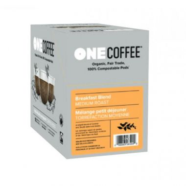 OneCoffee Organic Breakfast Blend Coffee Single Serve Cups 72/Case