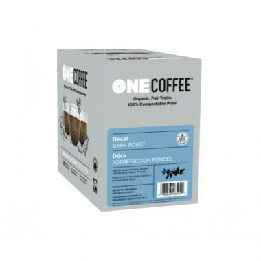 OneCoffee Organic Decaf Dark Roast Coffee Single Serve Cups 72/Case