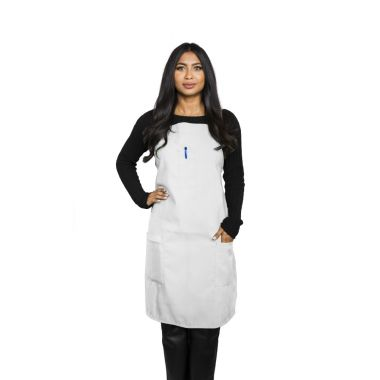 Gold + Cross™ 3- Pocket Commercial Apron White