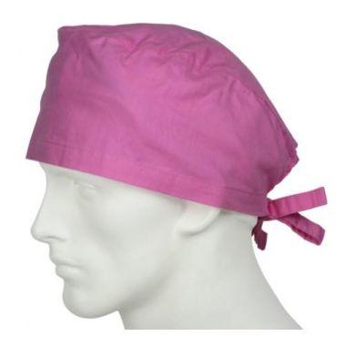 Cleantech™ Reusable/Washable Unisex  Surgeon's Cap Pink- 12/Pack