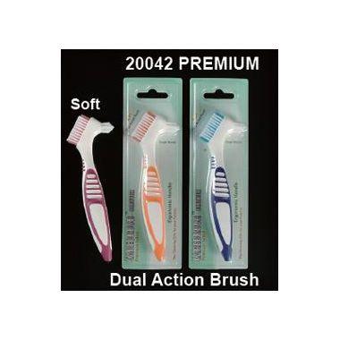 Plasdent Premium Denture Brushes Assorted Color 12/box