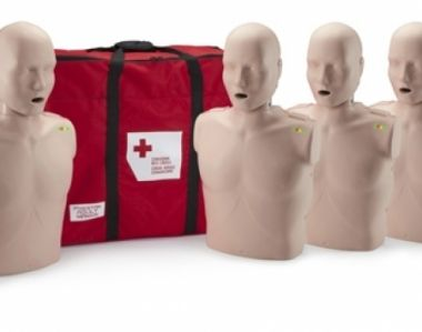PRESTAN PROFESSIONAL ADULT MEDIUM SKIN CPR-AEDs TRAINING MANIKINS 4-PACK WITH CPR MONITOR