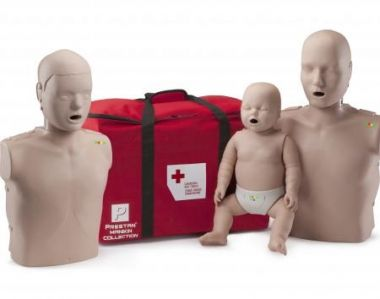 THE PRESTAN COLLECTION - 1 ADULT, 1 CHILD AND 1 INFANT MEDIUM SKIN MANIKIN WITH CPR MONITOR