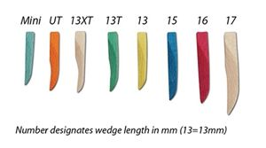 Premier Sycamore Wedges #Mini Blue 400/pack