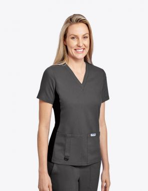 Mobb The Pearl Stretch-Flex V-Neck Scrub Top (T3020)