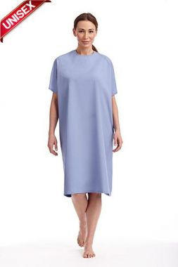 Mobb Unisex Patient's Night Gown One size fits all Color Ceil Blue