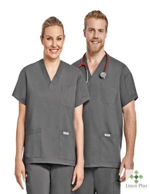 Mobb The Andy Stretch 3 Pocket Unisex Scrub Top (T4010)