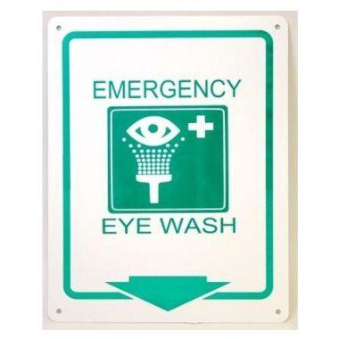 EMERGENCY EYE WASH STATION PLASTIC SIGN