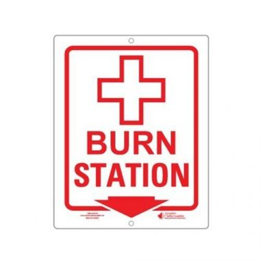BURN STATION PLASTIC SIGN