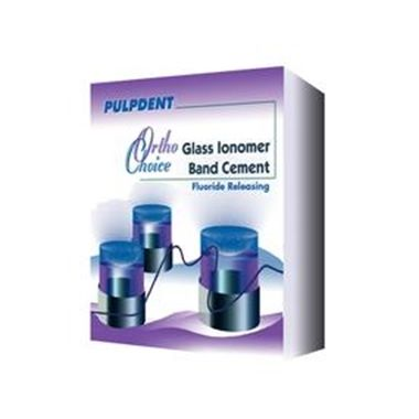 Pulpdent Ortho Choice Glass Ionomer Band Cement Kit, 30g powder, 15mL liquid