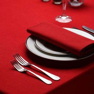 LinenPlus® Endurance™,Tablecloth,Red