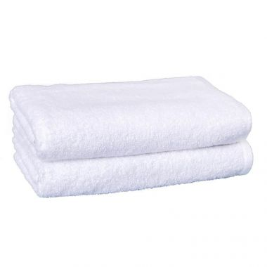 Regal™ 86/14 Luxury Combed Cotton/Polyester Dobby Hem Bath Towel 27x54 wt. 17.00 lbs/dz. White