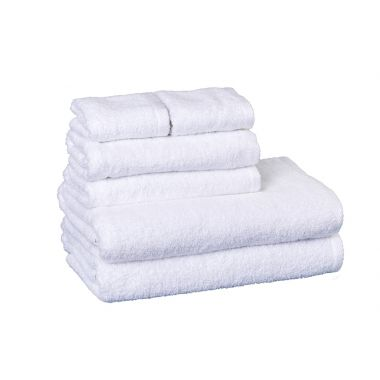 Regal™ 86/14 Luxury Combed Cotton/Polyester Bath Towel Dobby Hem White