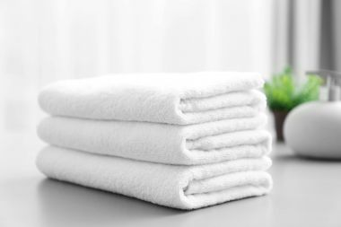 Renaissance™ by Regency 100% Cotton Full Terry Hospitality Towels, White